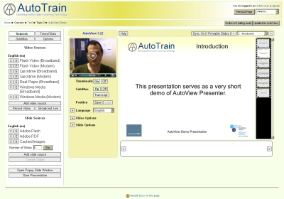 AutoView in Moodle 2